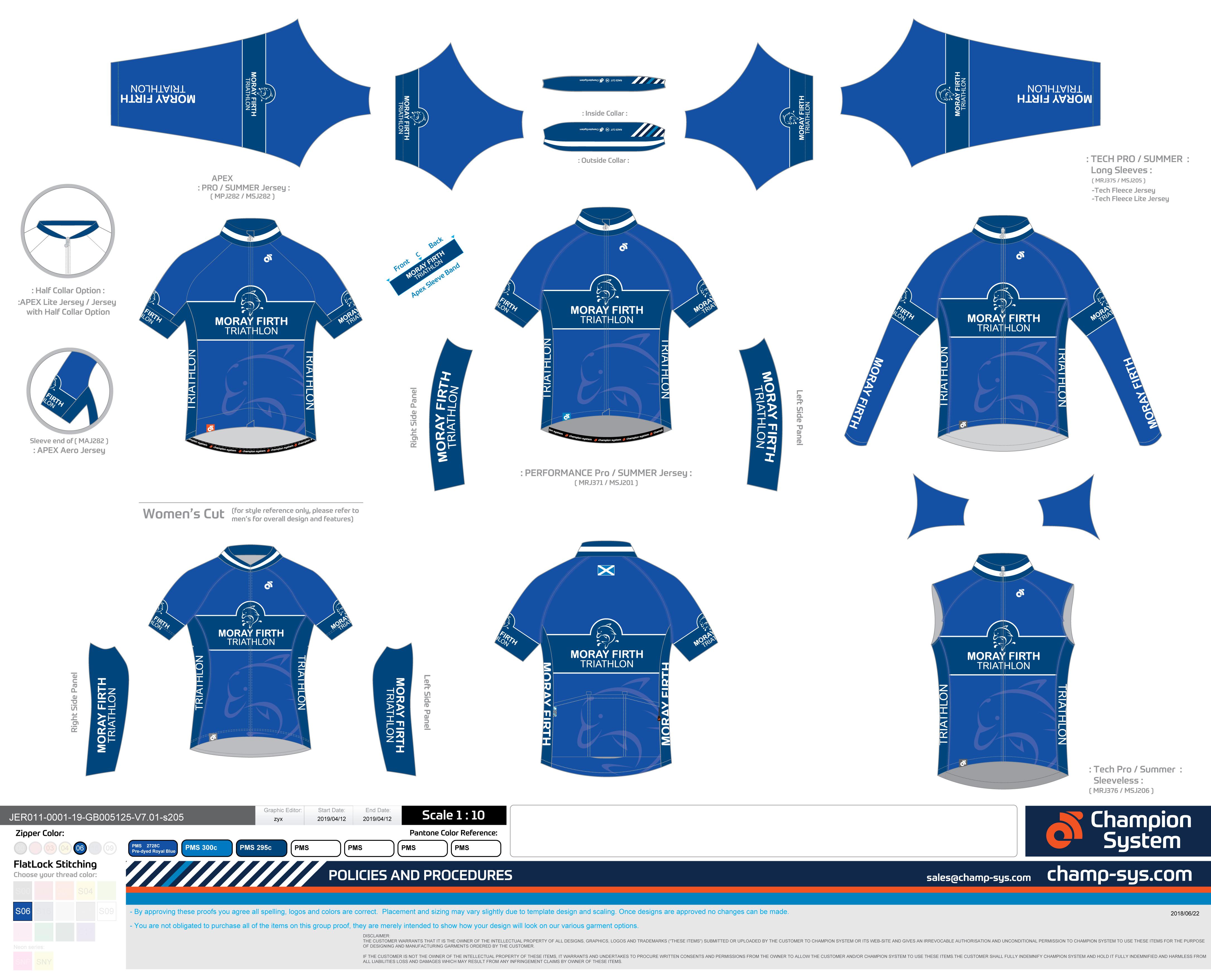 MFTRI cycle jersey